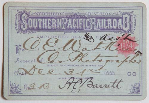 Unnumbered View - Northern Division, Southern Pacific Railroad Pass - 1884