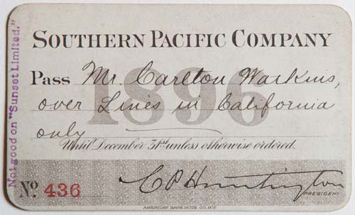 Unnumbered View - Southern Pacific Company Pass - 1896