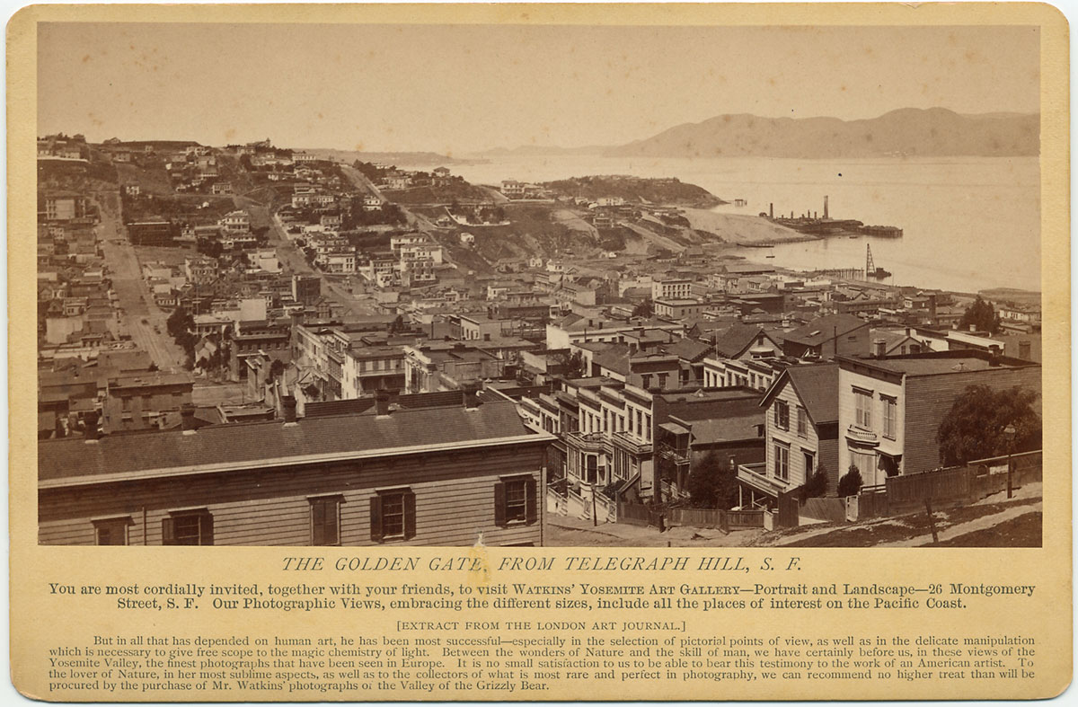 Watkins Unnumbered View - The Golden Gate, from Telegraph Hill, S.F.