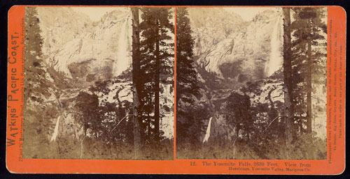 #12 - The Yosemite Falls, 2630 Feet.  View from Hutchings, Yosemite Valley, Mariposa Co.