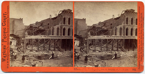 #982 - Effects of the Earthquake, Oct. 21, 1868, Cal. St., South side