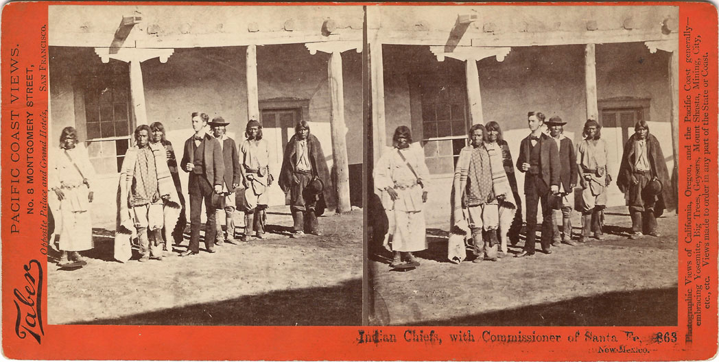 Watkins #863 - Indian Chiefs, with Commissioner of Santa Fe, New Mexico