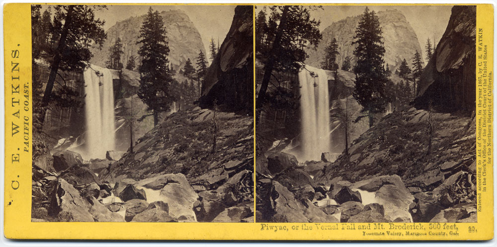 Watkins #20 - Piwyac, or the Vernal Fall, and Mt. Broderick, 300 feet