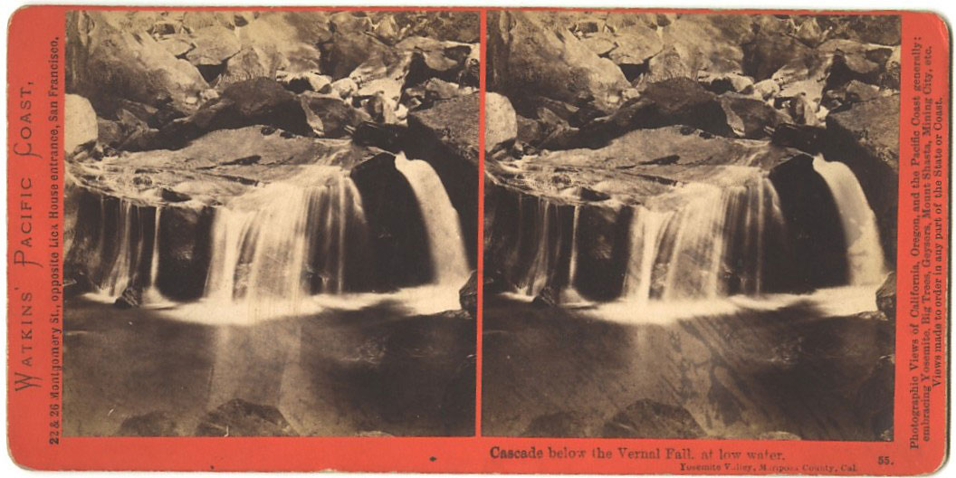 Watkins #55 - Cascade below the Vernal Fall at Low Water