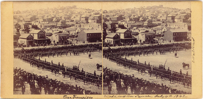 Watkins #321 - Washington Square, July 4th, 1862, San Francisco
