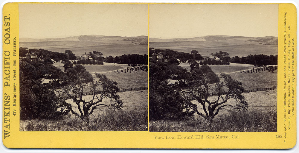 Watkins #482 - View from Howard Hill, San Mateo, Cal.