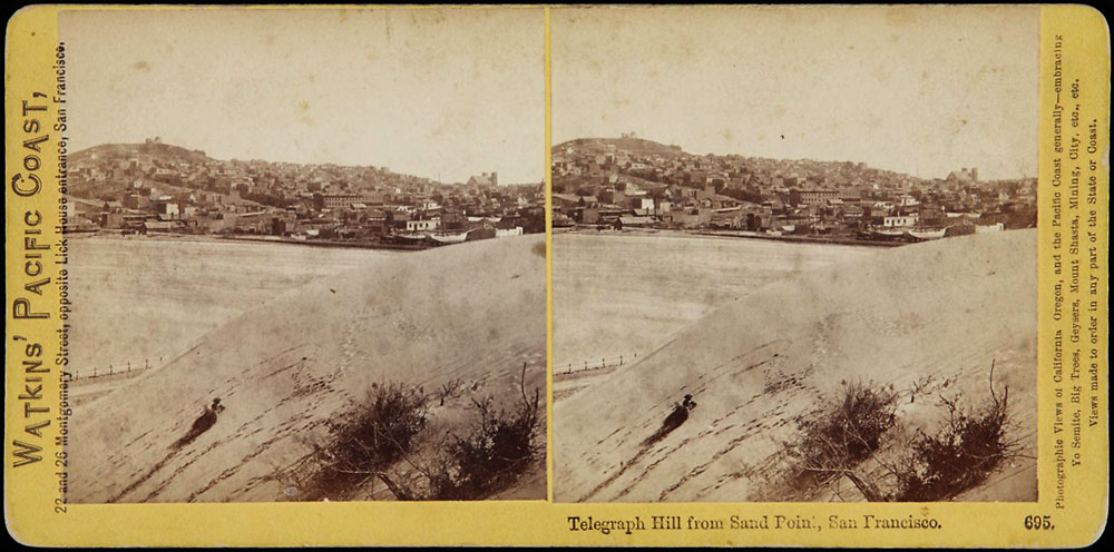 Watkins #695 - Telegraph Hill from Sand Point, San Francisco