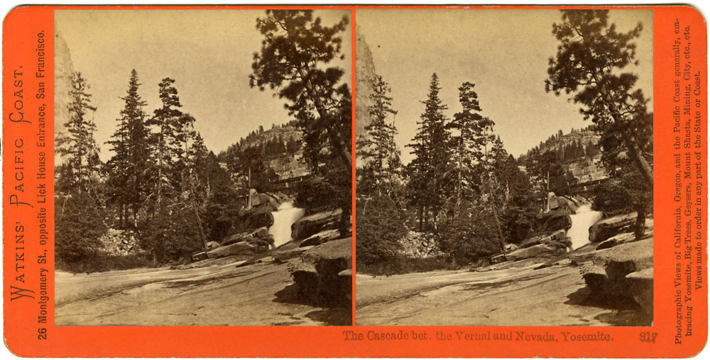 Watkins #817 - The Cascade bet. the Vernal and Nevada, Yosemite.