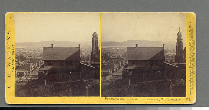 Watkins #972 - Panorama from Pine and Stockton sts., San Francisco