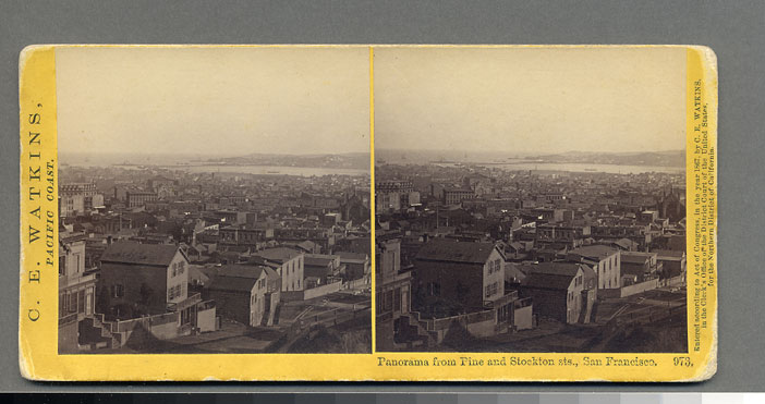 Watkins #973 - Panorama from Pine and Stockton sts., San Francisco