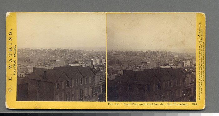 Watkins #974 - Panorama from Pine and Stockton Sts, San Francisco