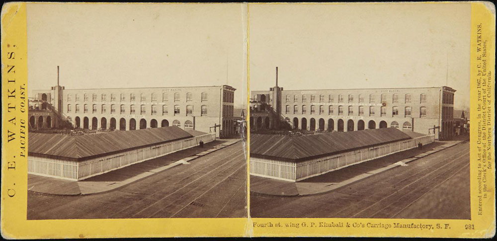 Watkins #981 - Fourth st. wing G. P. Kimball & Co's Carriage Manufactory, S. F.