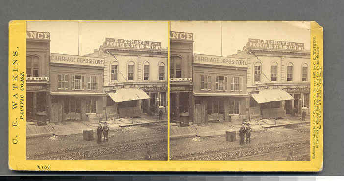 Watkins #983 - Effects of the Earthquake, Oct. 21, 1868, Cal. St., North side