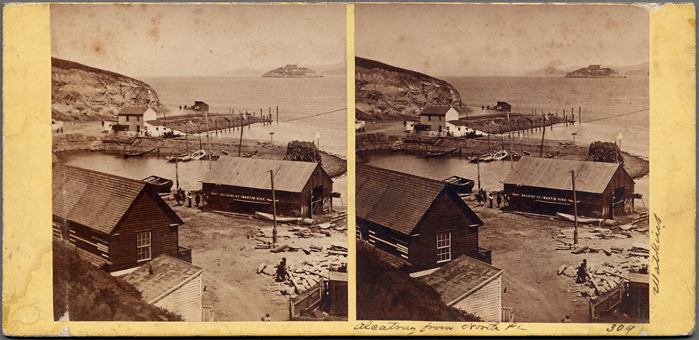 Watkins #309 - Alcatraz, from North Pt