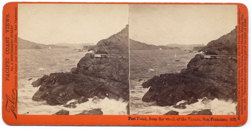Watkins #950 - Fort Point from Wreck of the Viscata, San Francisco