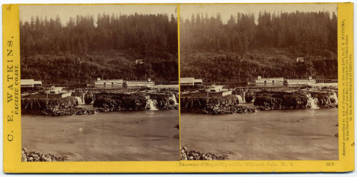 #1217 - Panorama of Oregon City and the Willamette Falls #4