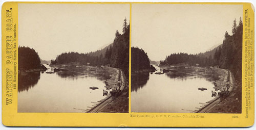 #1299 - The Tooth Bridge, O. R. R., Cascades, Columbia River