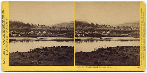 #1303 - Dalles City from Rockland, Columbia River