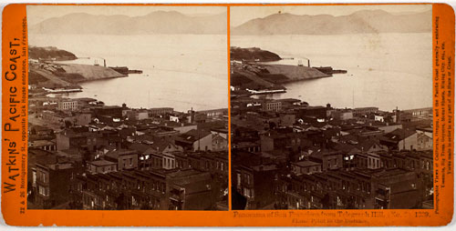 #1339 - Panorama of San Francisco from Telegraph Hill (No. 2). Lime Point in the Distance