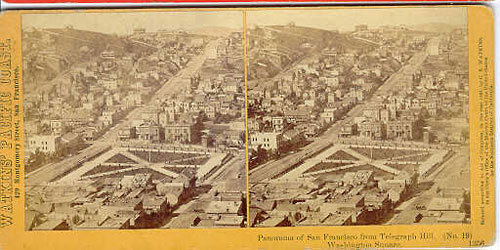 #1356 - Panorama of San Francisco from Telegraph Hill (No. 19). Washington Square.