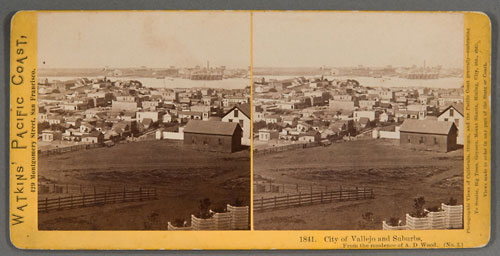 #1841 - City of Vallejo and Suburbs, from the residence of A.D. Wood (No. 3)