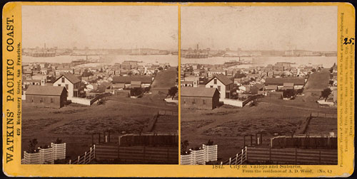 #1842 - City of Vallejo and Suburbs, From the residence of A.D. Wood. (No. 4)