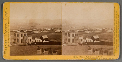#1848 - City of Vallejo and Suburbs. From the residence of A.D. Wood. (No. 10)