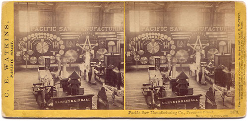 #1473 - Pacific Saw Manufacturing Co., Fremont Street. Mechanic's Institute, 1868.