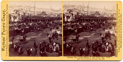 #1614 - Laying the Corner Stone of the New City Hall, San Francisco, February 22d, 1872