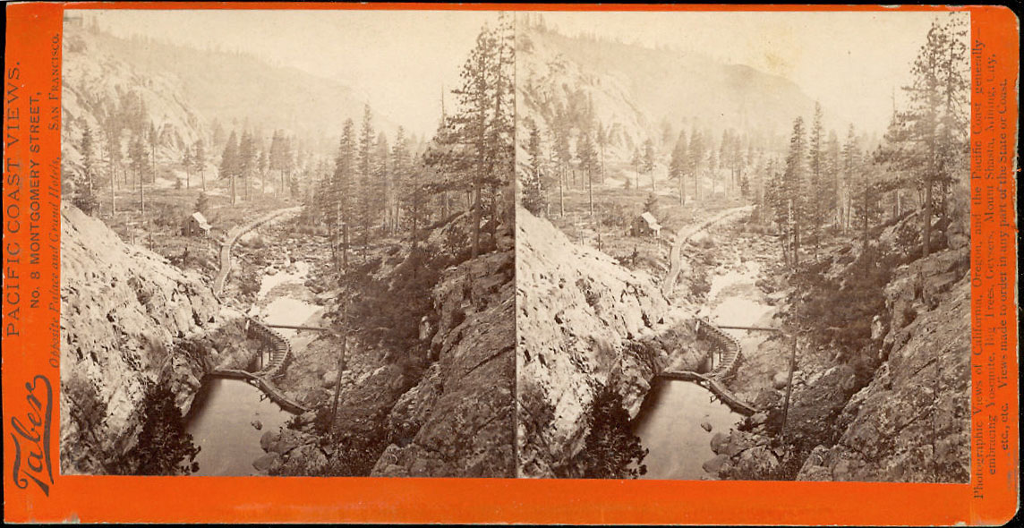 Watkins #1805 - Flume and Catchwater below Big Canon Dam, North Bloomfield Gravel Mining Co., Nevada Co.