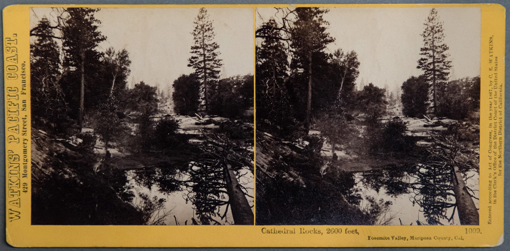 Watkins #1009 - Cathedral Rocks, 2600 ft, Yosemite Valley