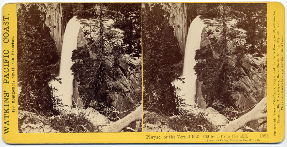 Watkins #1081 - Piwyac, or the Vernal Fall, 300 feet, from the Cliff