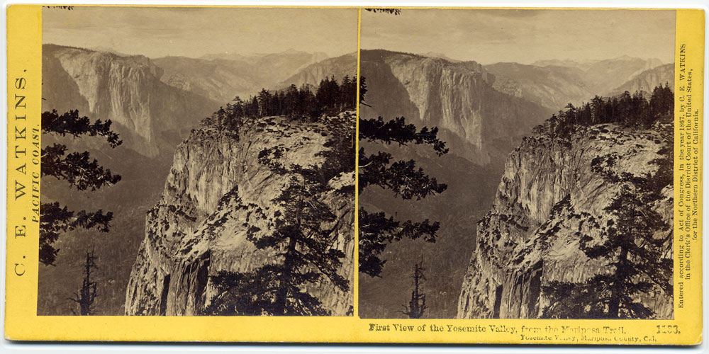 Watkins #1133 - First view of the Yosemite Valley, from the Mariposa Trail