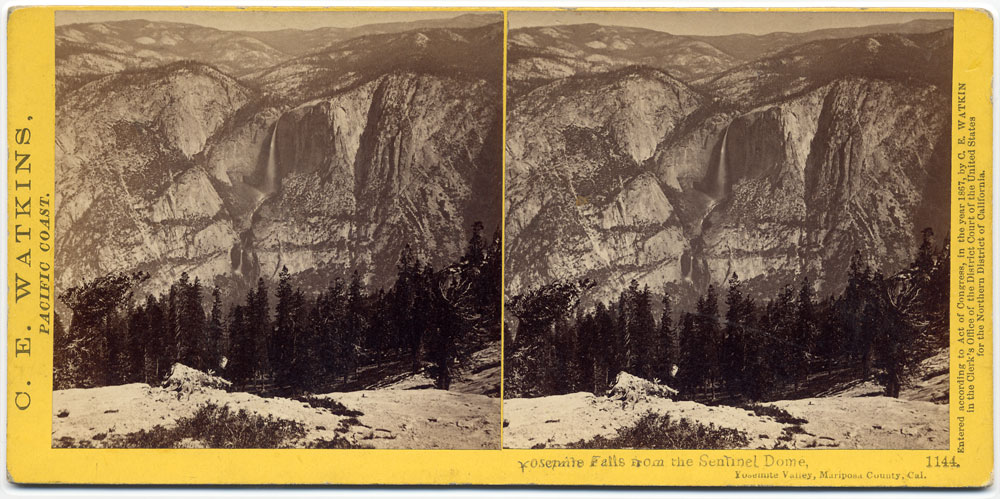 Watkins #1144 - Yosemite Falls, from the Sentinel Dome
