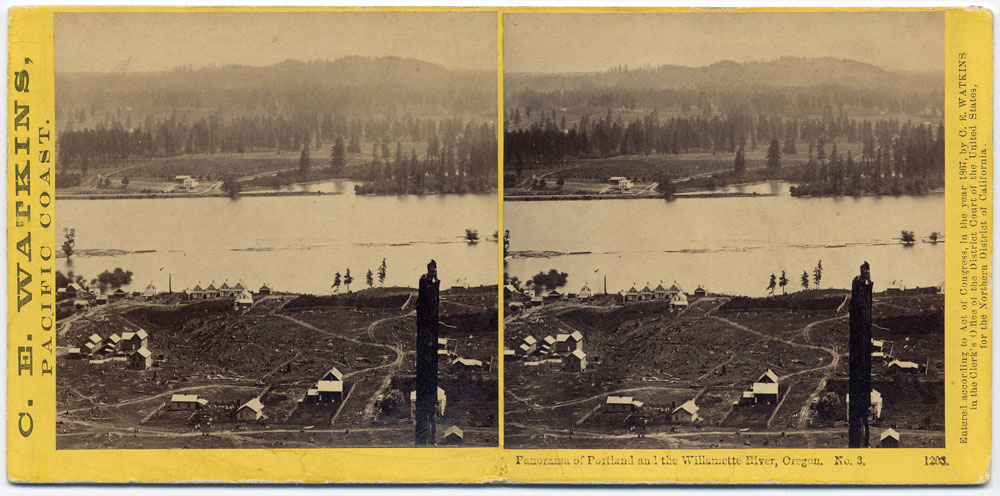 Watkins #1203 - Panorama of Portland and the Willamette River, Oregon #3