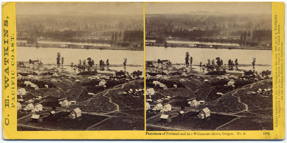 Watkins #1204 - Panorama of Portland and the Willamette River, Oregon #4