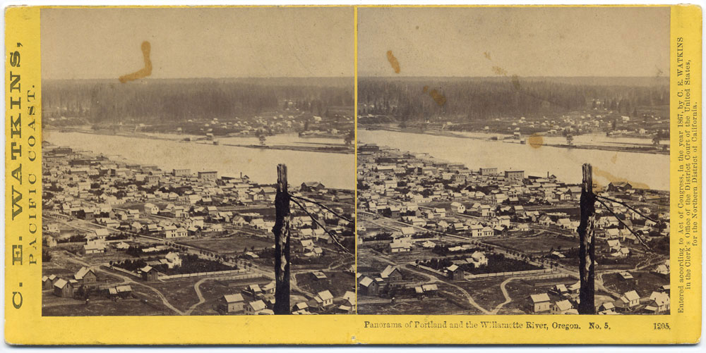 Watkins #1205 - Panorama of Portland and the Willamette River, Oregon #5