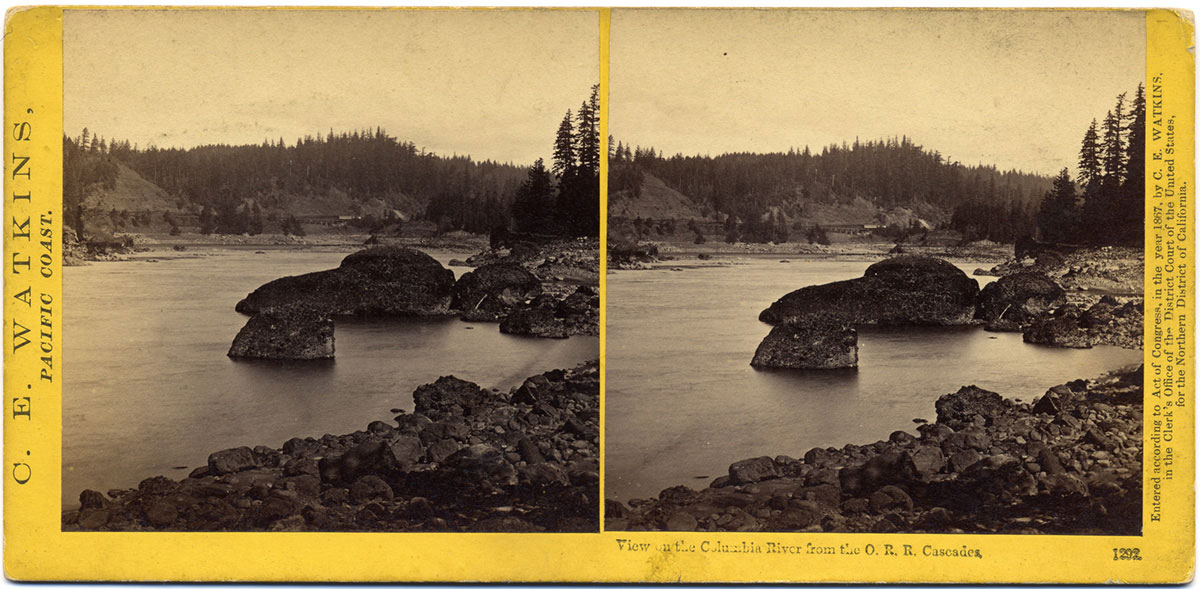 Watkins #1292 - View on the Columbia River from O. R. R., Cascades