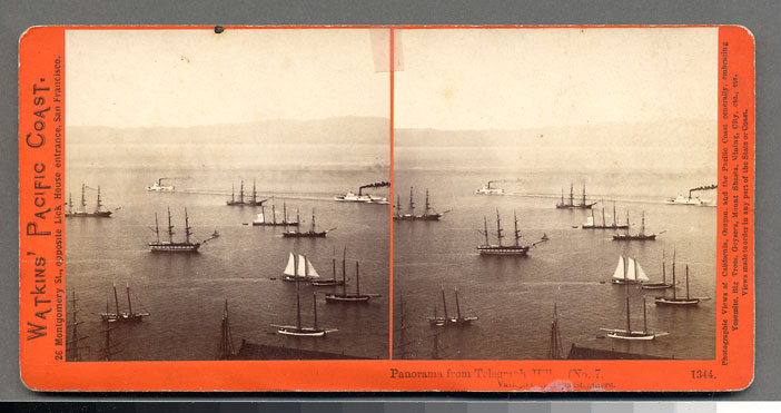 Watkins #1344 - Panorama from Telegraph Hill (No. 7) Vallejo and Napa Steamers