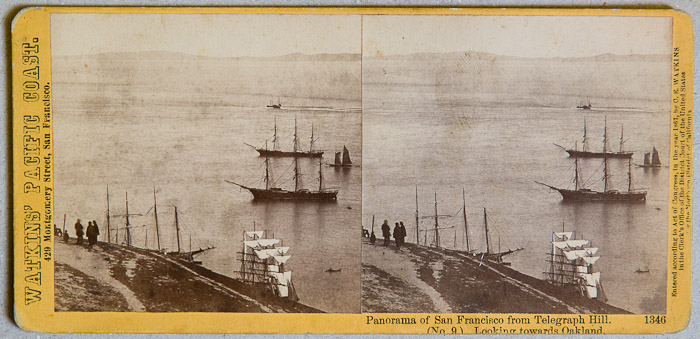 Watkins #1346 - Panorama of San Francisco from Telegraph Hill (No. 9). Looking towards Oakland.