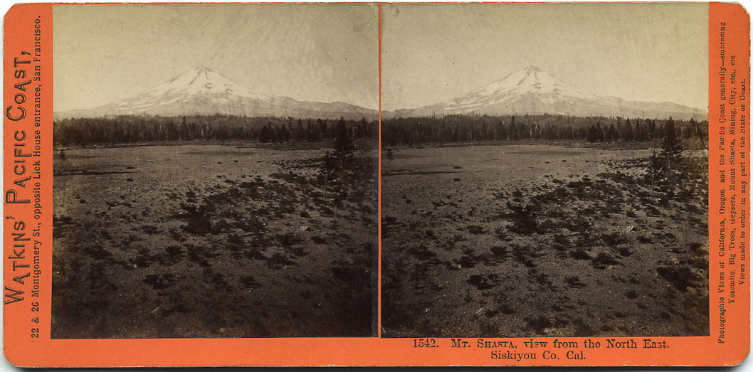 Watkins #1542 - Mt. Shasta, view from the North East, Siskiyou Co., Cal