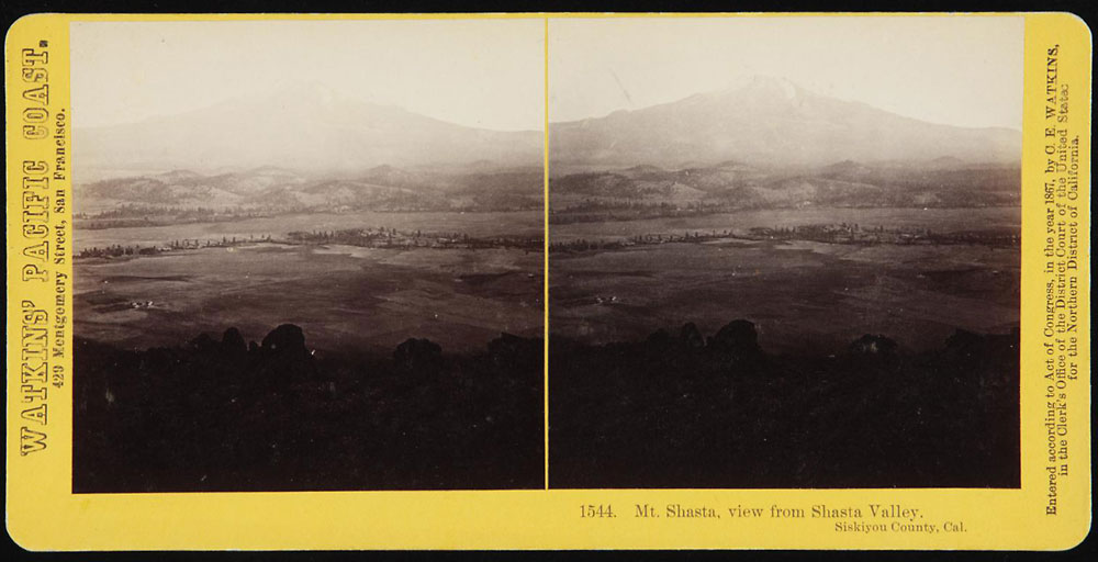 Watkins #1544 - Mt. Shasta, view from Shasta Valley. Siskiyou County, Cal.