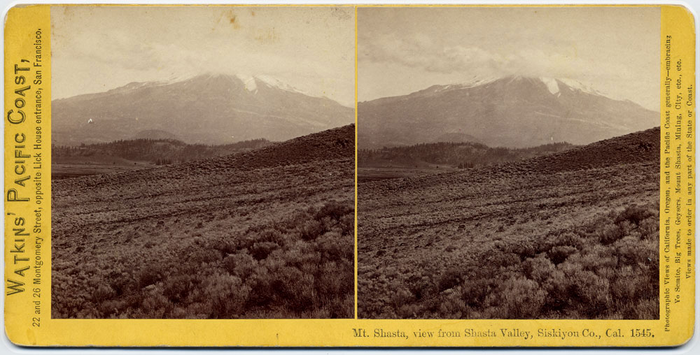 Watkins #1545 - Mt. Shasta, view from Shasta Valley, Siskiyou Co., Cal.