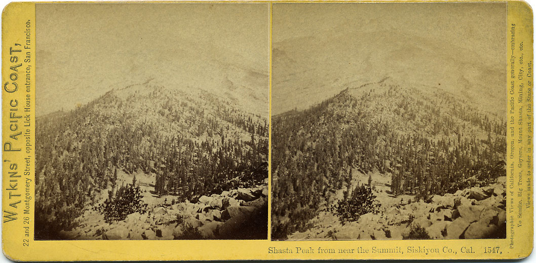 Watkins #1547 - Shasta Peak from near the Summit, Siskiyou Co., Cal.