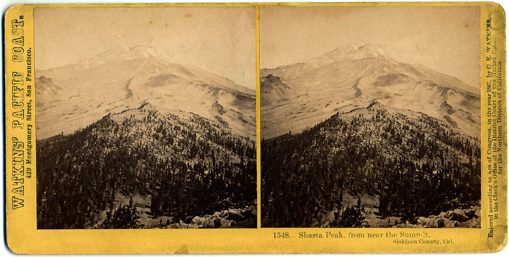 Watkins #1548 - Shasta Peak, from near the Summit, Siskiyou County, Cal.