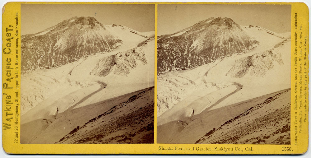 Watkins #1550 - Shasta Peak and Glacier, Siskiyou County, Cal.