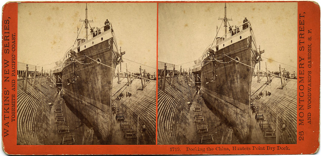 Watkins #1719 - Docking the China, Hunter's Point Dry Dock