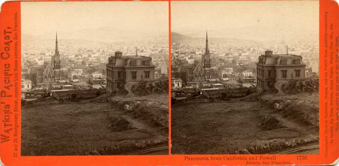 Watkins #1756 - Panorama from California and Powell streets, San Francisco
