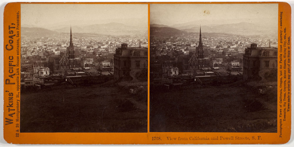 Watkins #1768 - View from California and Powell Streets, S.F.