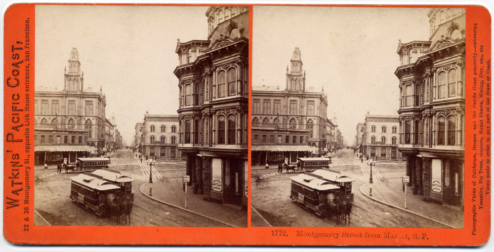 Watkins #1772 - Montgomery Street, from New Montgomery and Market Streets, San Francisco